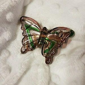 Beautiful Glass Butterfly Pendant